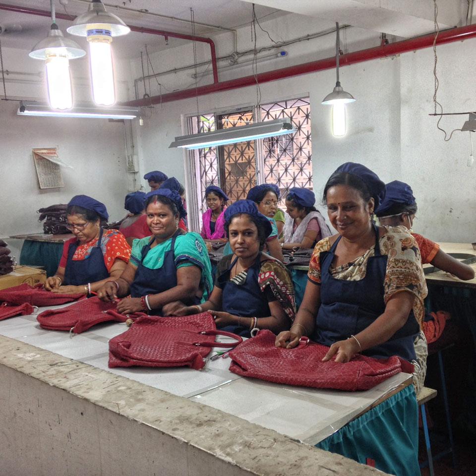 Nika Trade Taschen, werden in Indien nach BSCI (Business Social Compliance Initiative) Normen produziert